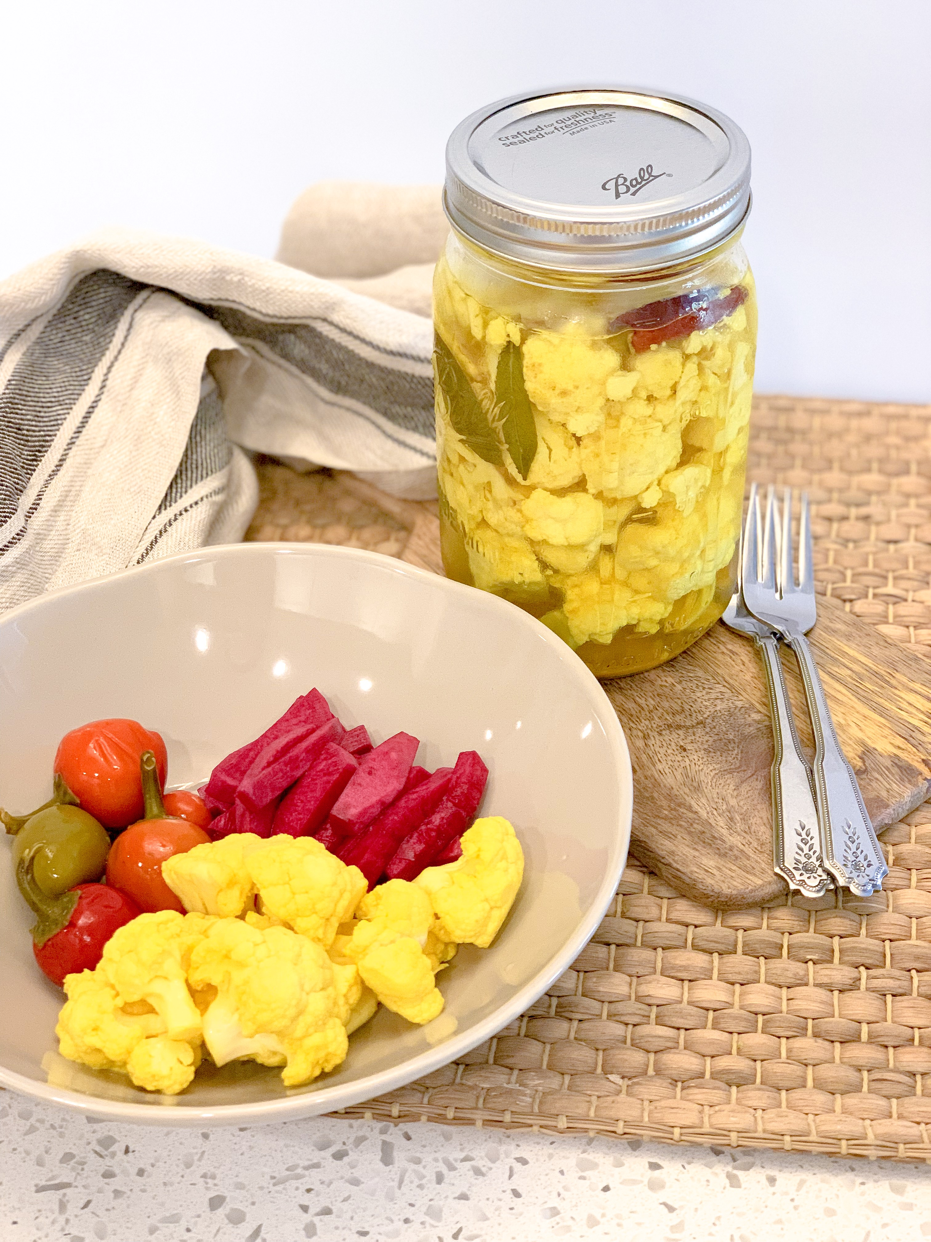 Turmeric Pickled Cauliflower