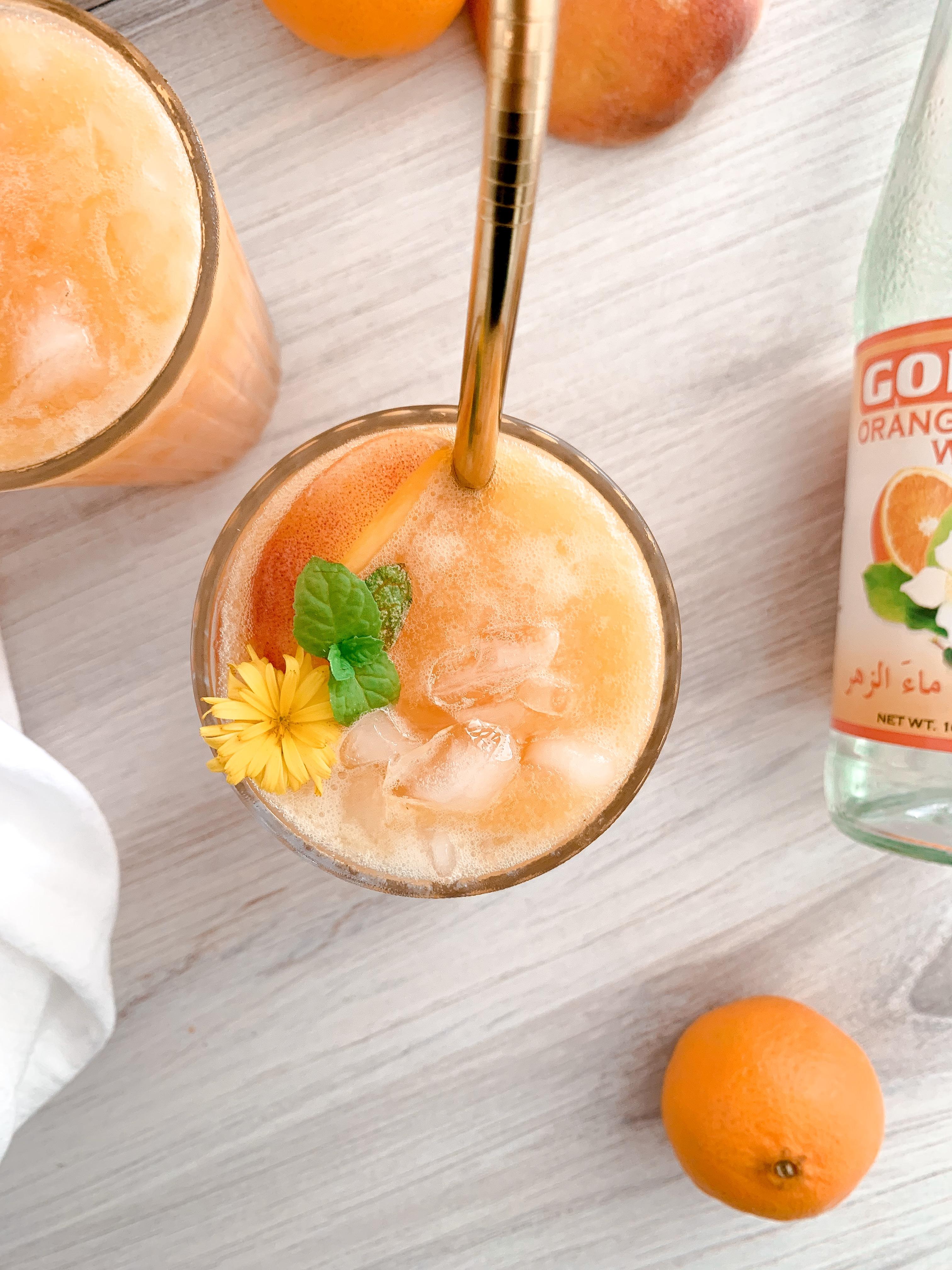 'Lazy' Peach Blossom Lemonade
