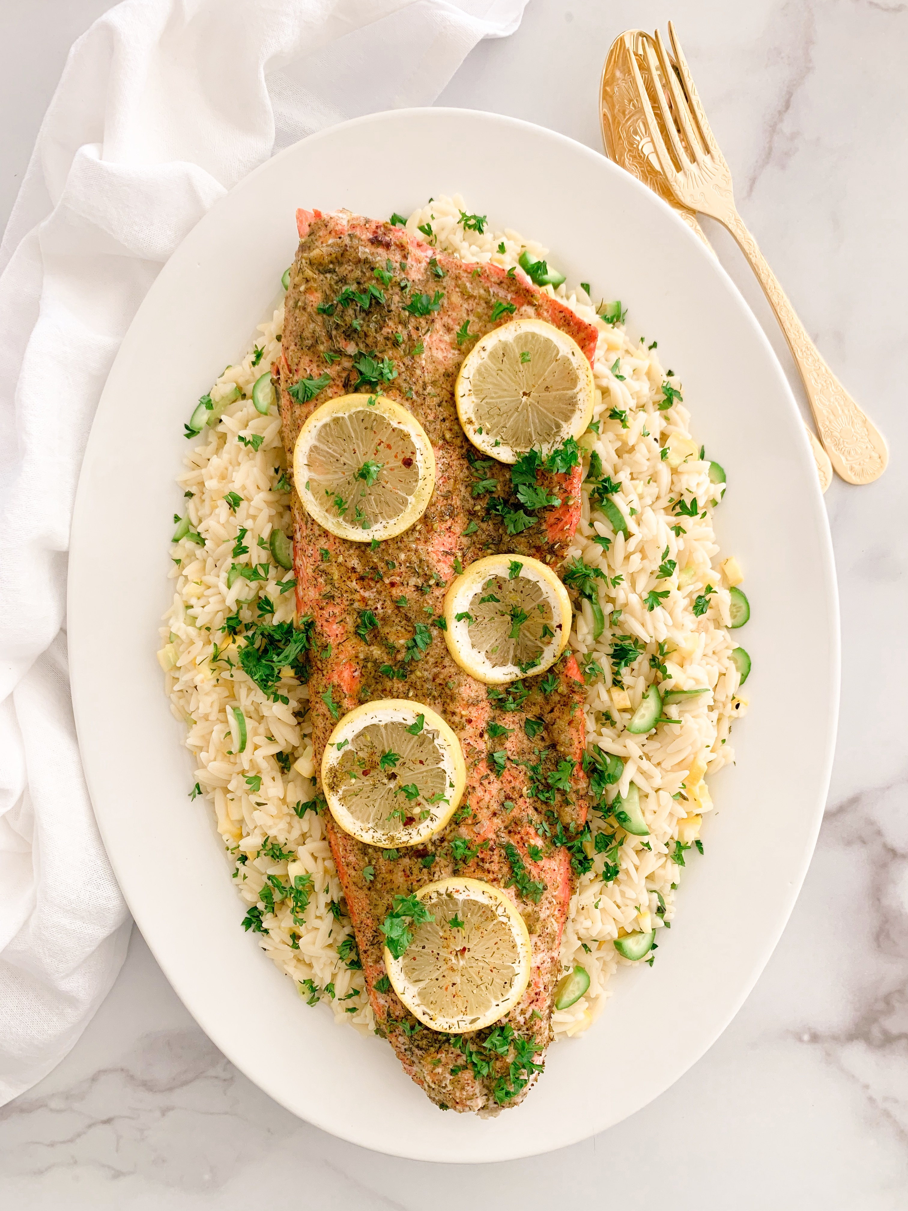 Wild Caught Salmon with Za'atar Butter