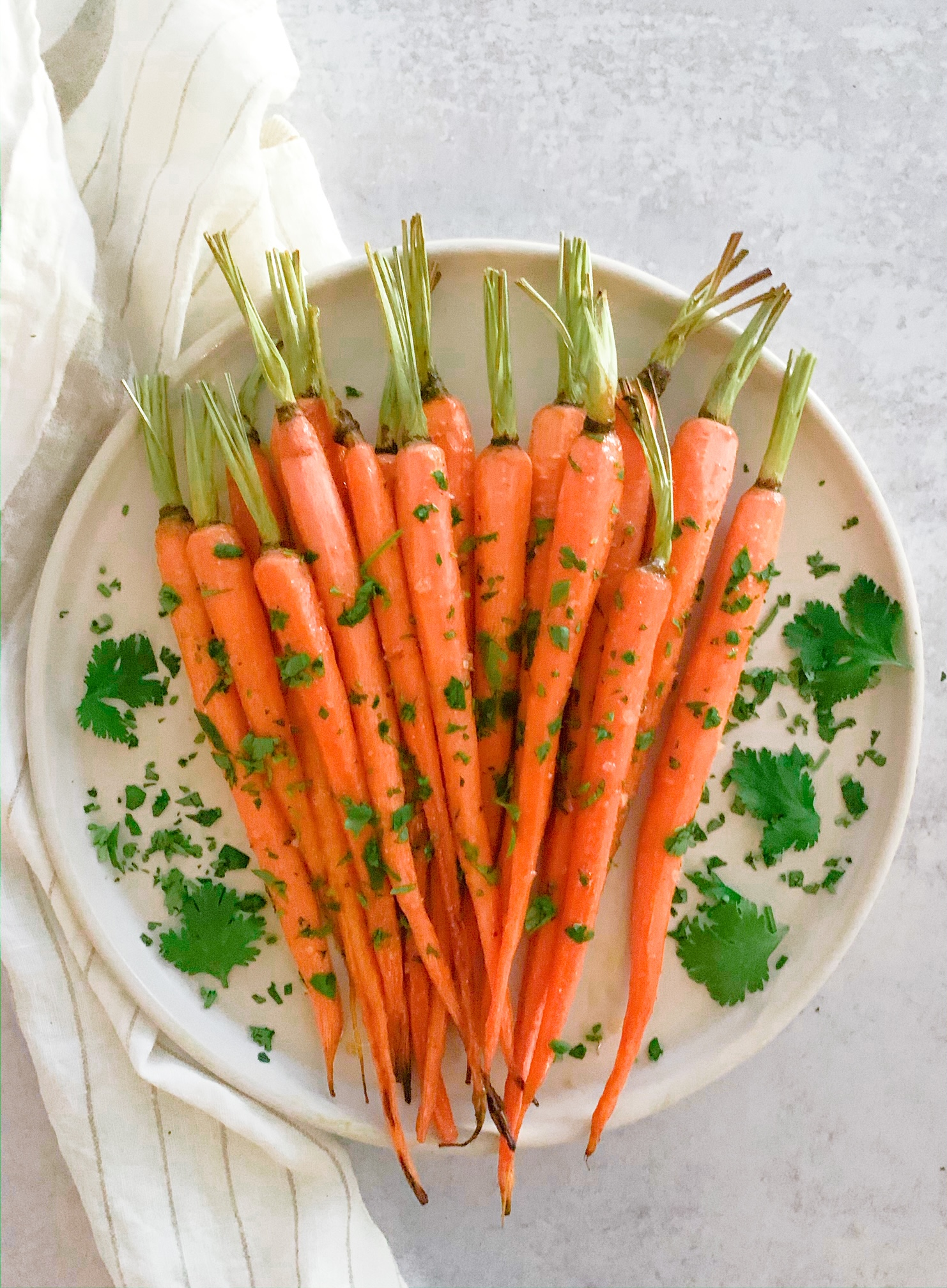 Glazed Carrots with Coriander and Honey